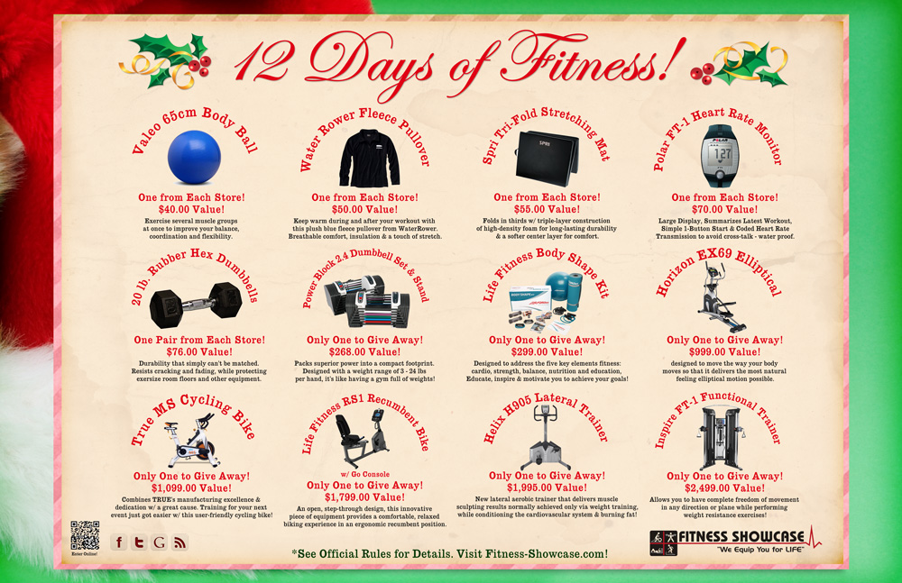12 Days of Fitness Holiday Fitness Equipment Giveaway